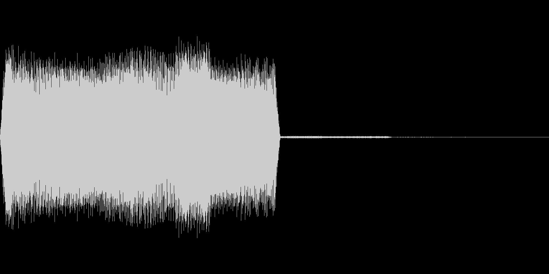 ウインドウが開くようなデジタル系のSE…の未再生の波形
