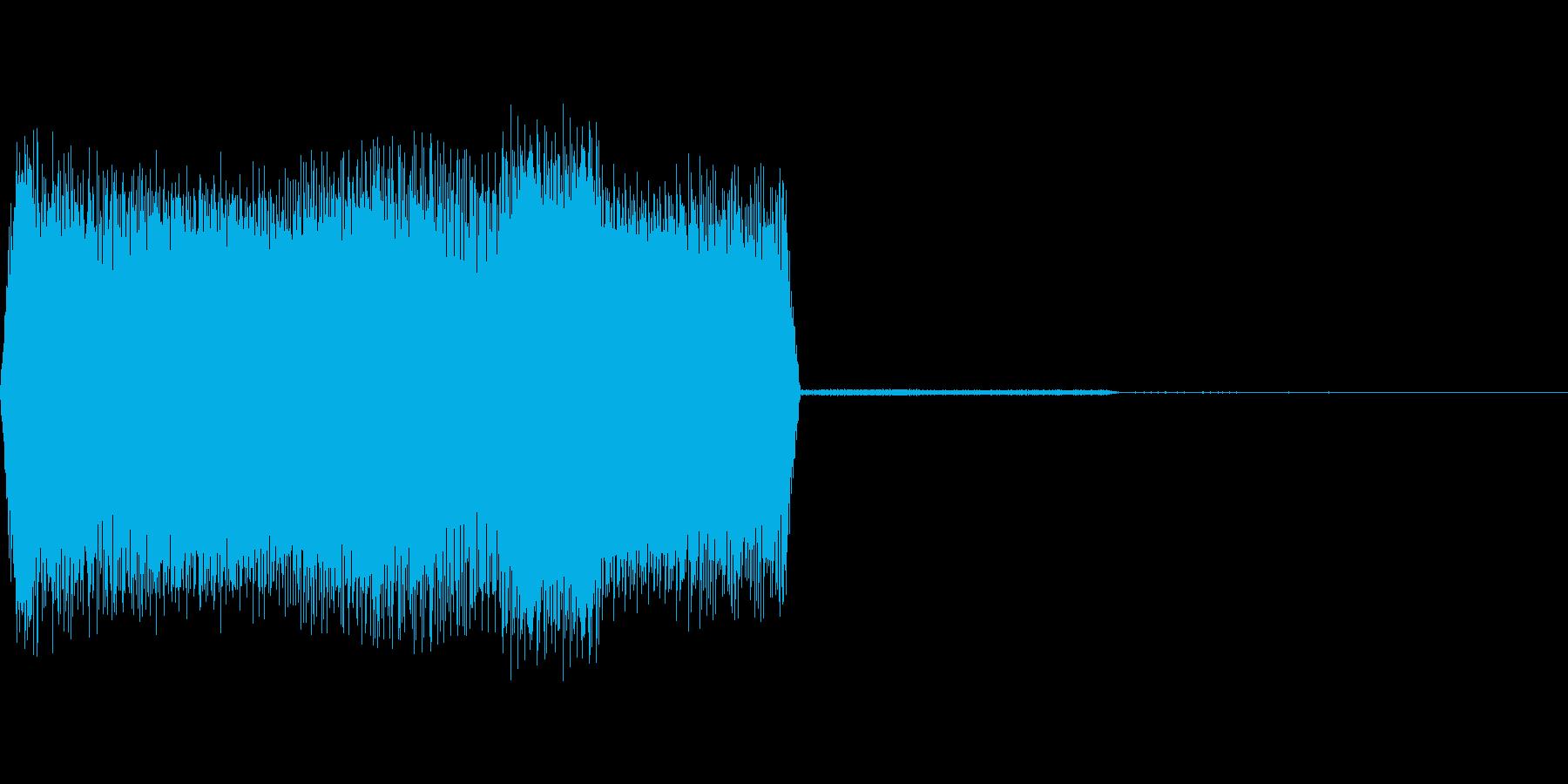 ウインドウが開くようなデジタル系のSE…の再生済みの波形