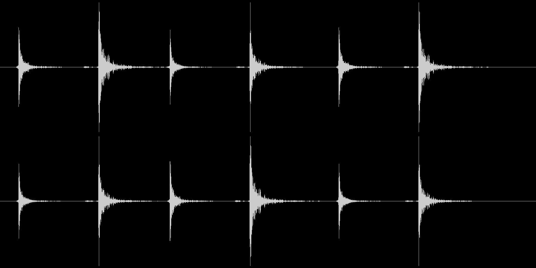 照明 紐を引く(和室風)チャッ、コッ×3の未再生の波形