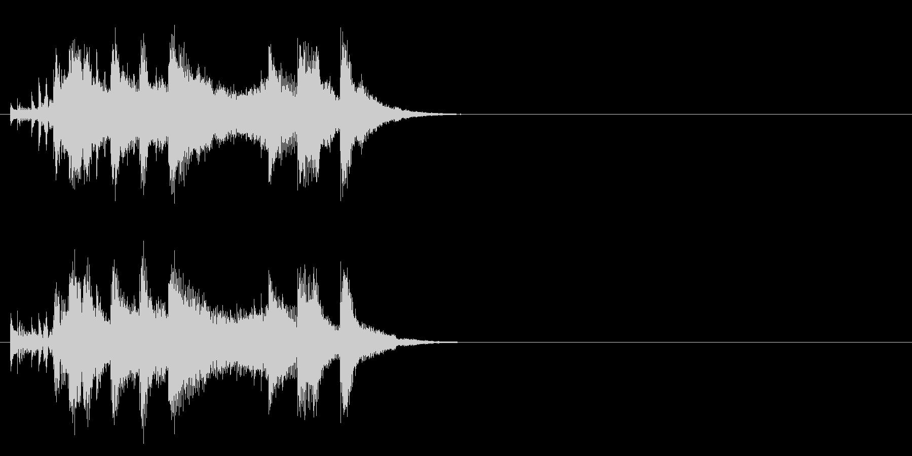 ジングル(元気一発タイプ)の未再生の波形