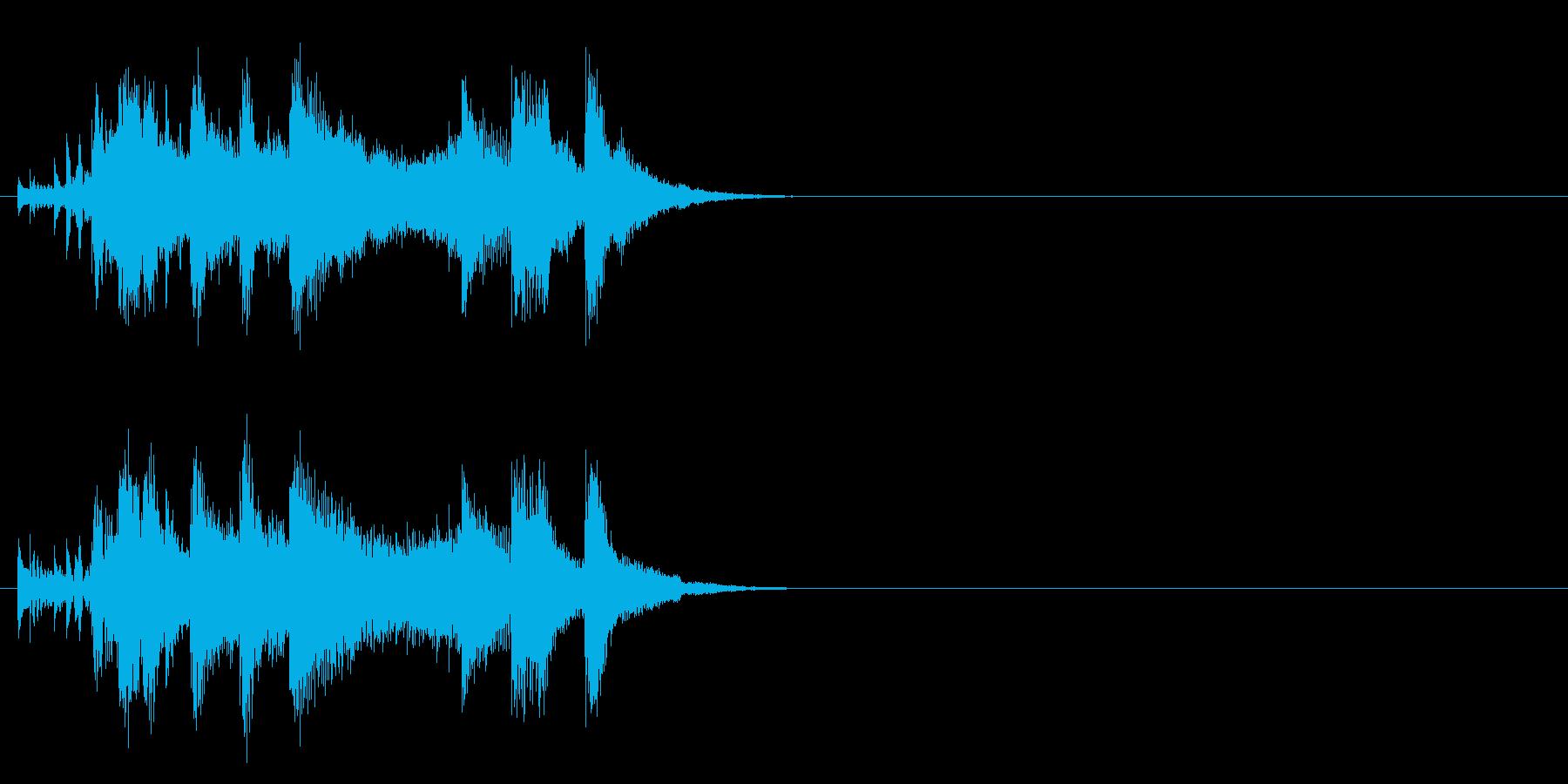 ジングル(元気一発タイプ)の再生済みの波形