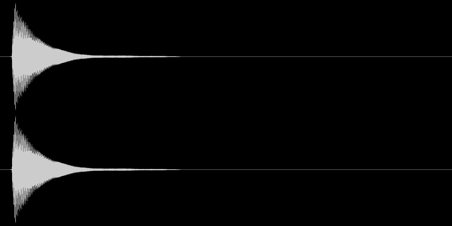 テック系ボタン音2(タン)の未再生の波形