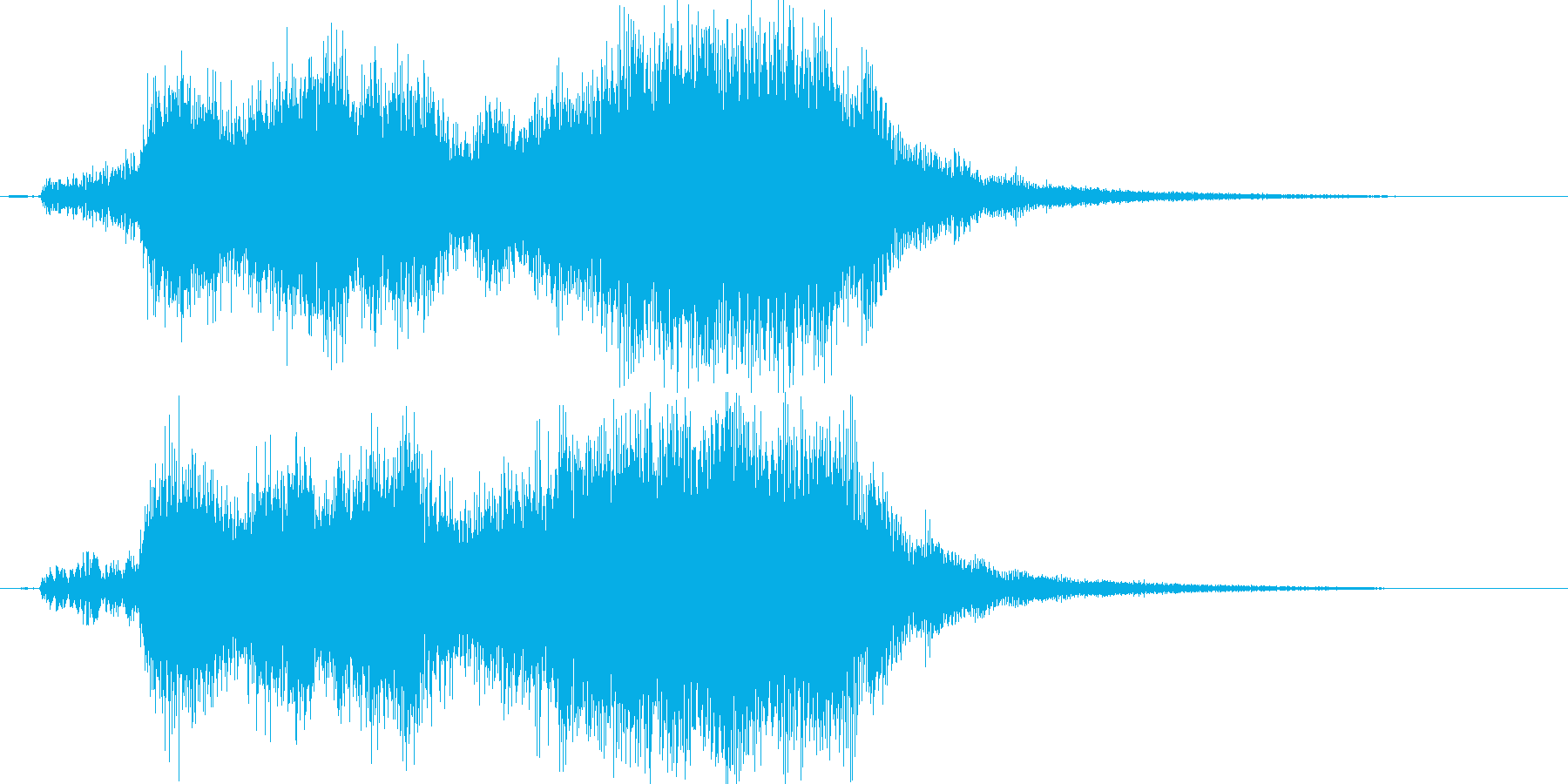 ゲームクリア効果音,ジングル,テッテレーの再生済みの波形