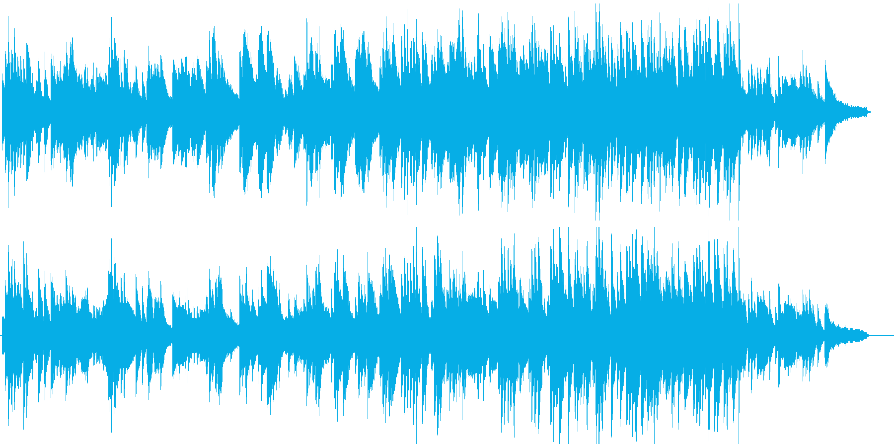 明るくゆったりとしたピアノソロの再生済みの波形