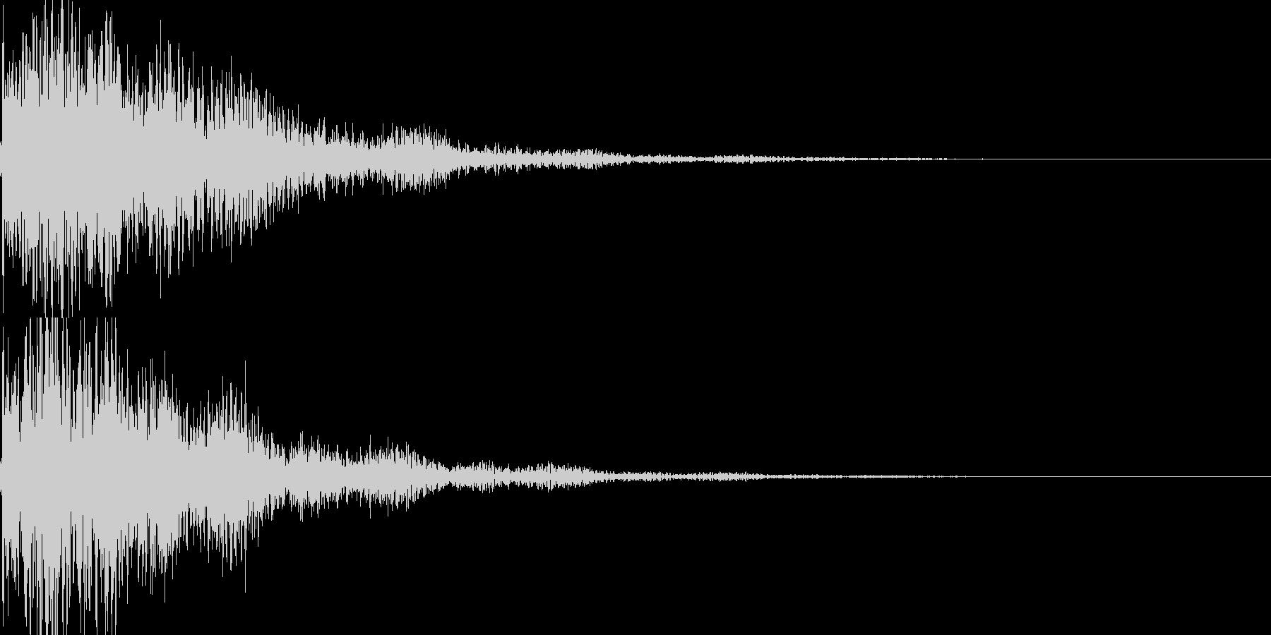 琴と太鼓の和風インパクトジングル! 02の未再生の波形