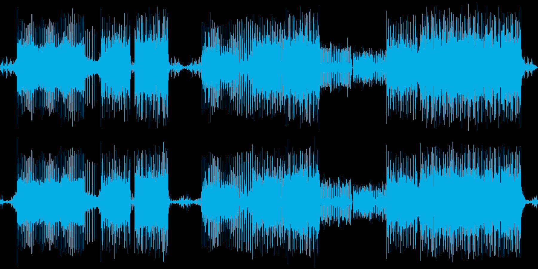 エレクトロなメロディが印象的なループ素材の再生済みの波形