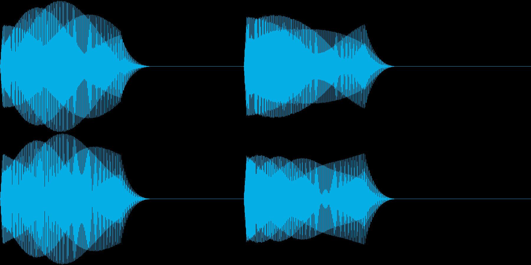 ぴよぴよ 可愛い小鳥のお知らせボイス音の再生済みの波形
