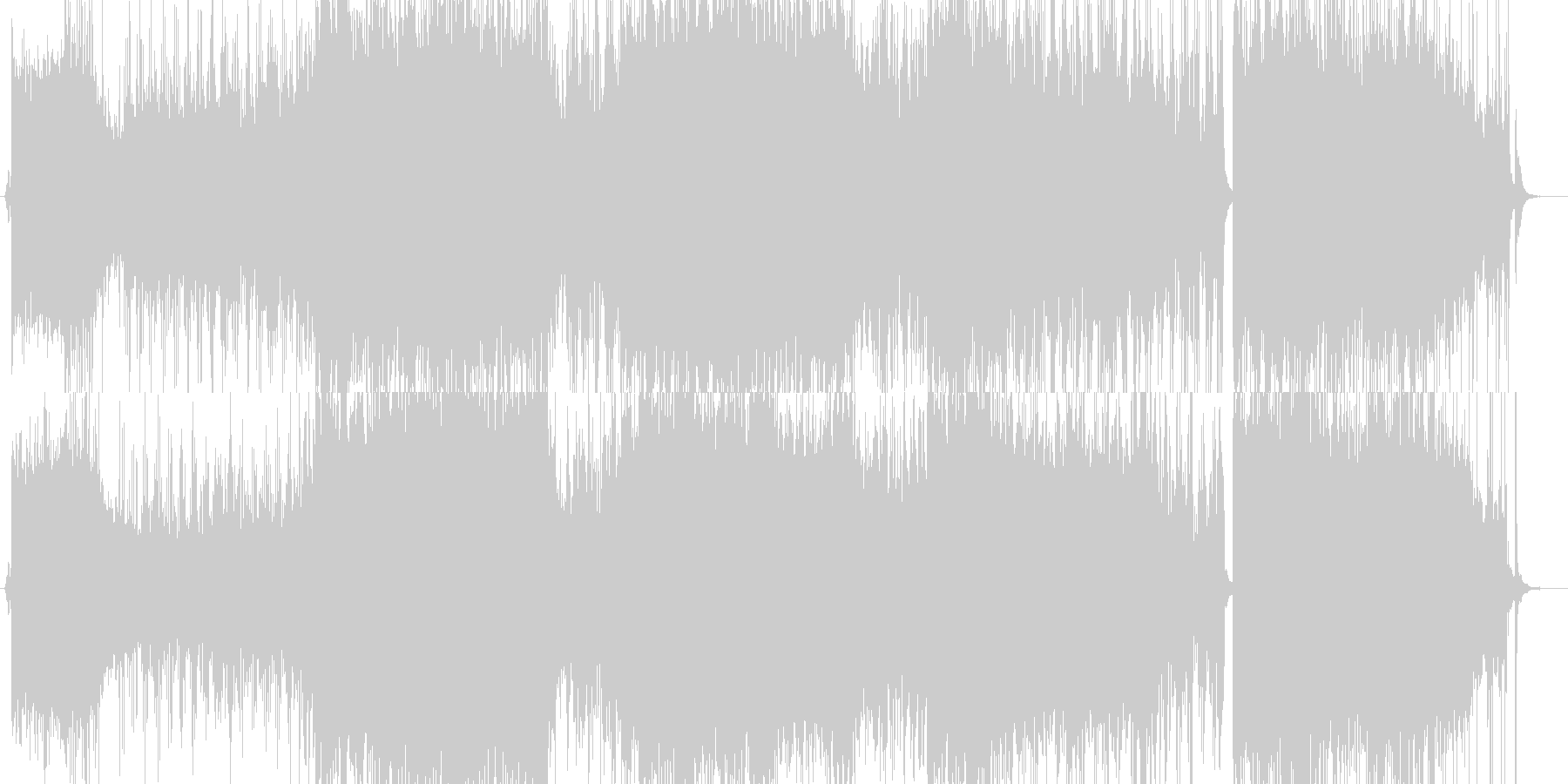サイケデリックロック調のイントロの未再生の波形