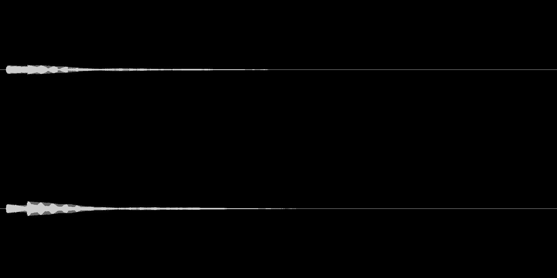 電子音「ボーン」 低音の未再生の波形