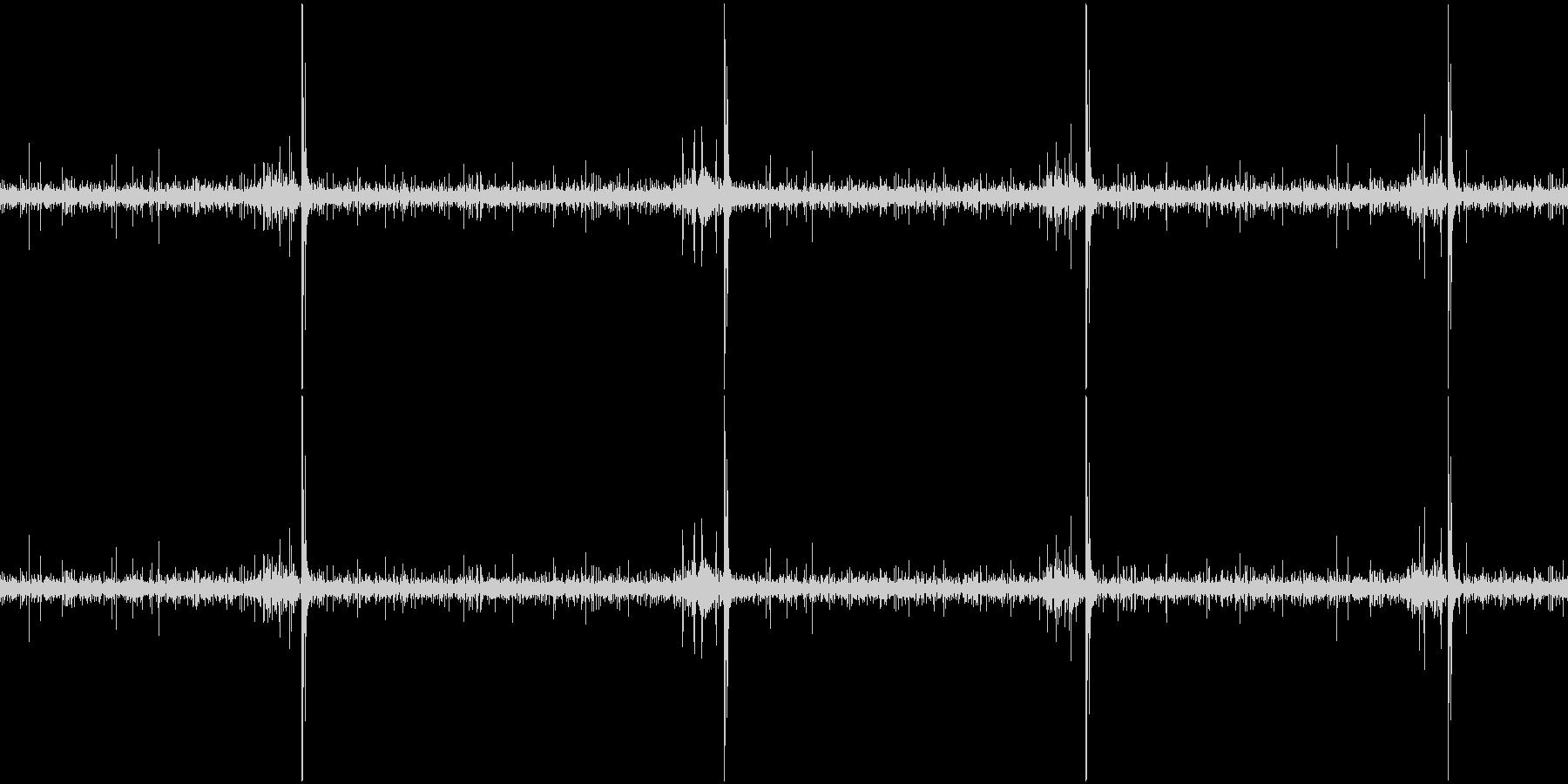 水流とししおどしの環境音(ループ)の未再生の波形