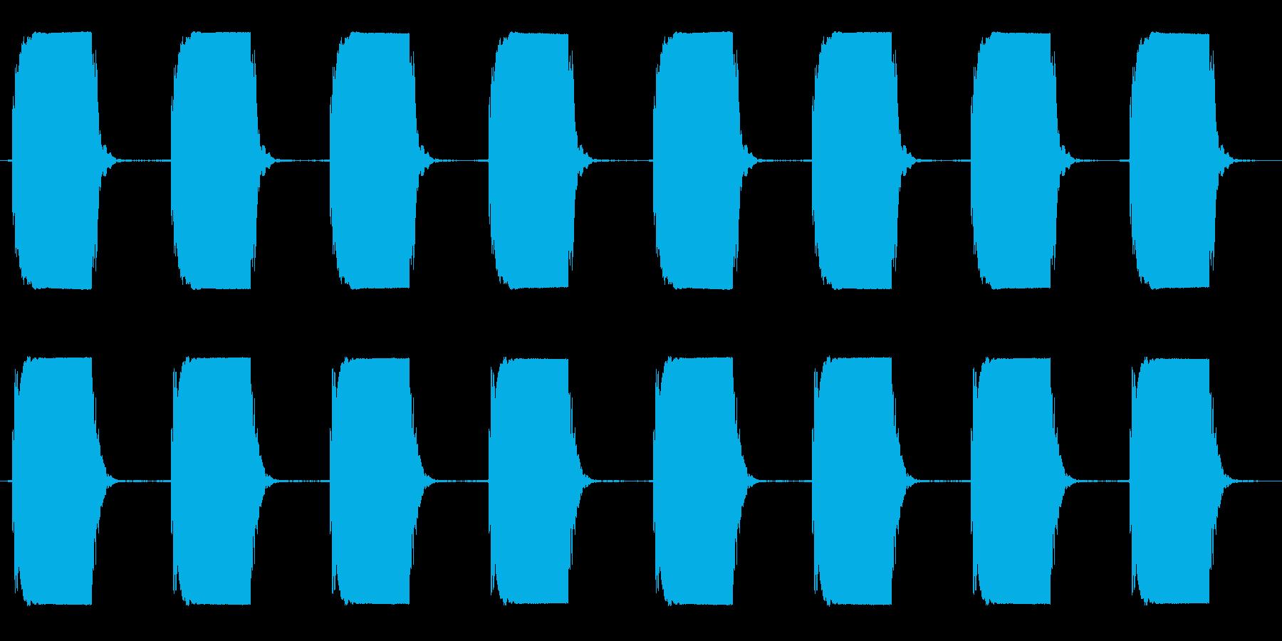 ピーピー☆洗濯機の終了ブザー ロングの再生済みの波形