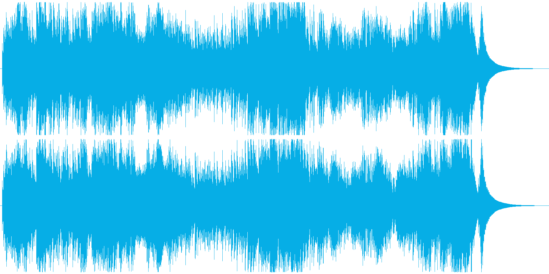 インベンション1番 オルゴールの再生済みの波形