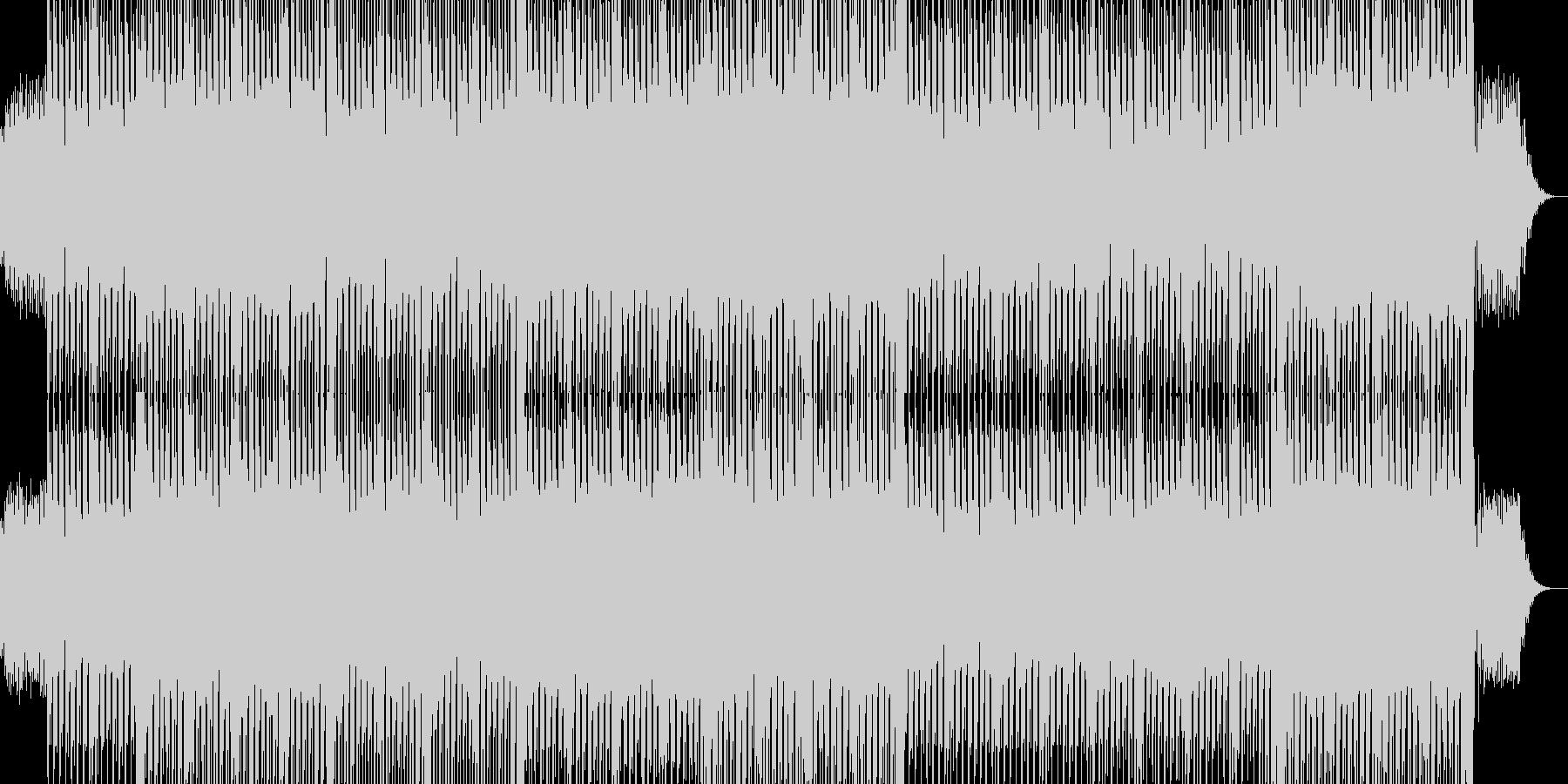 ノリノリのテクノダンスミュージックの未再生の波形