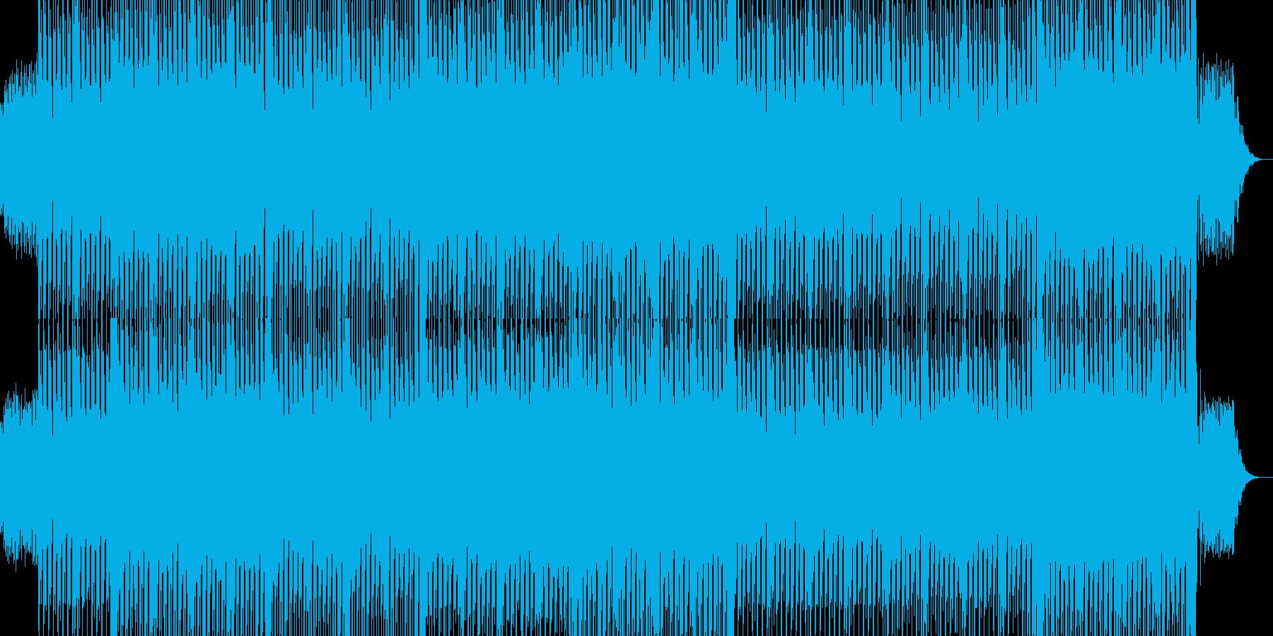 ノリノリのテクノダンスミュージックの再生済みの波形