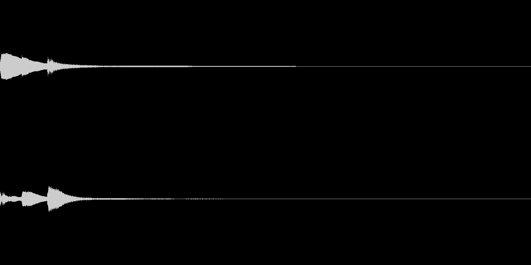 タララーン(ホラーゲームの発見音などに)の未再生の波形