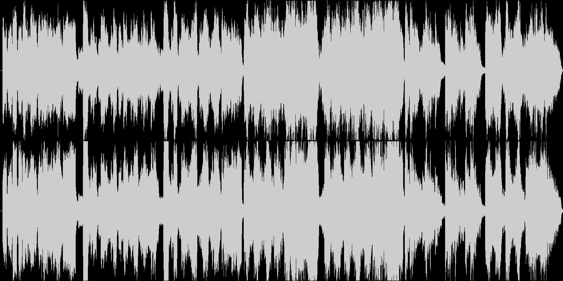 小規模なオーケストラ編成の穏やかな曲ですの未再生の波形