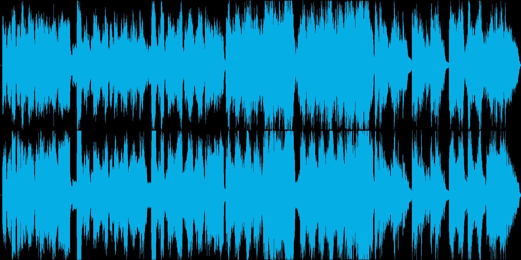 小規模なオーケストラ編成の穏やかな曲ですの再生済みの波形
