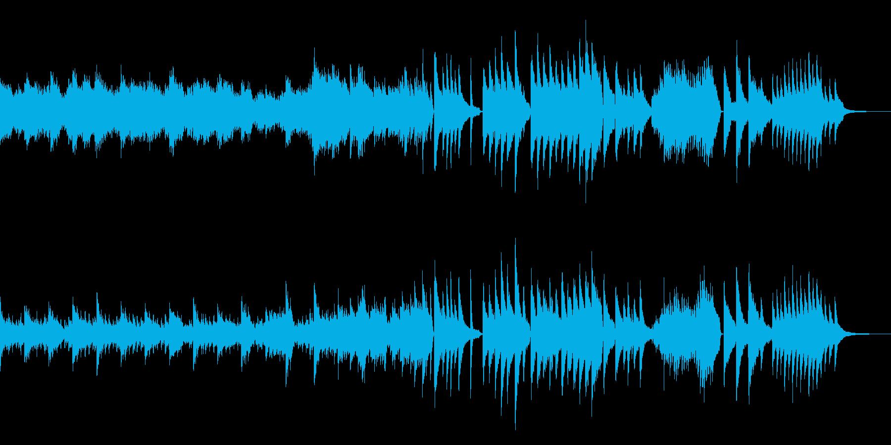 生ピアノ 幻想的 ドラマチック 映像 の再生済みの波形