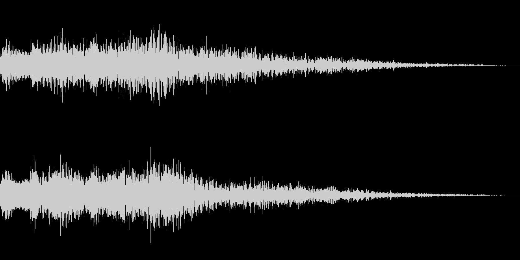 キランという音です。決定音、回復などにの未再生の波形