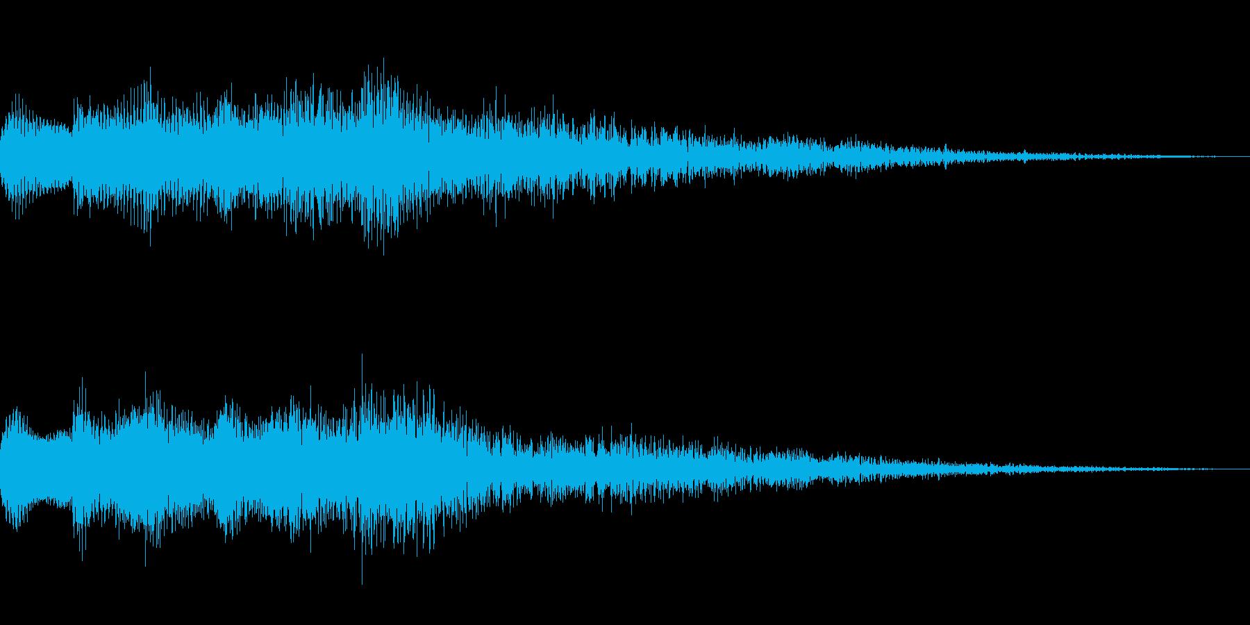キランという音です。決定音、回復などにの再生済みの波形