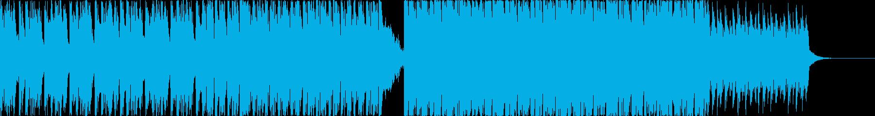 16分シンセメロの軽快なエレクトロニカ曲の再生済みの波形