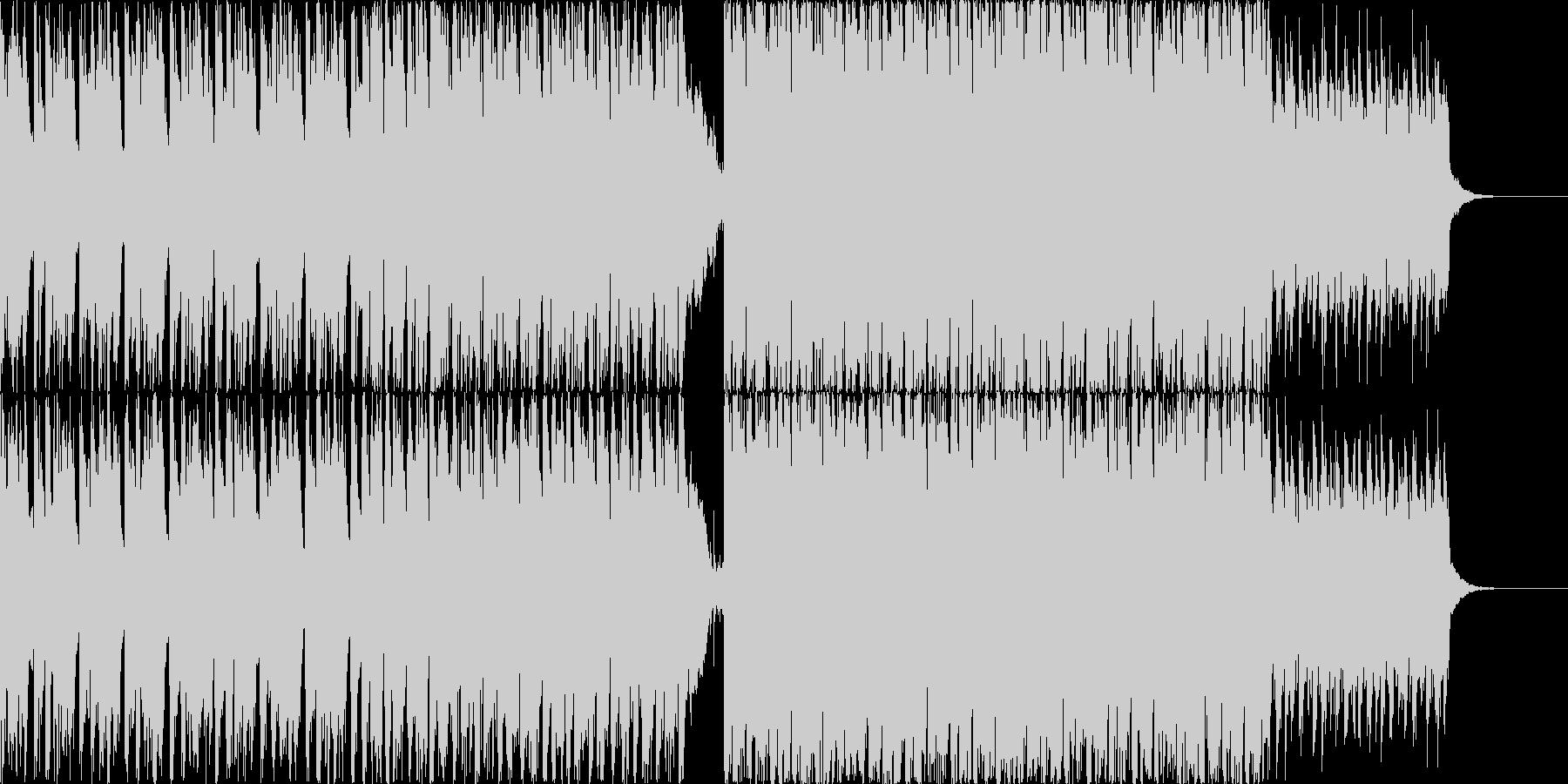 16分シンセメロの軽快なエレクトロニカ曲の未再生の波形