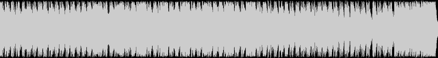 ドラム、シンセの緊迫感バトル、ループの未再生の波形