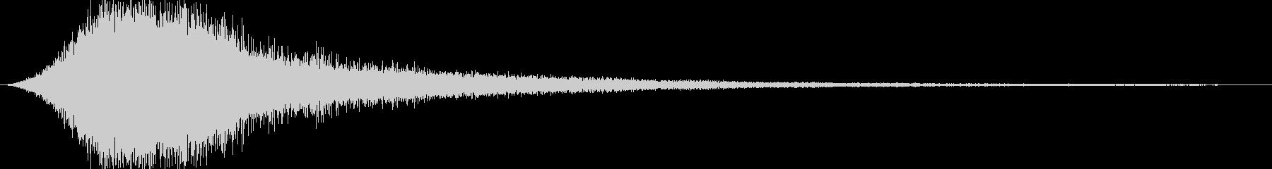 何かが生み出される音の未再生の波形