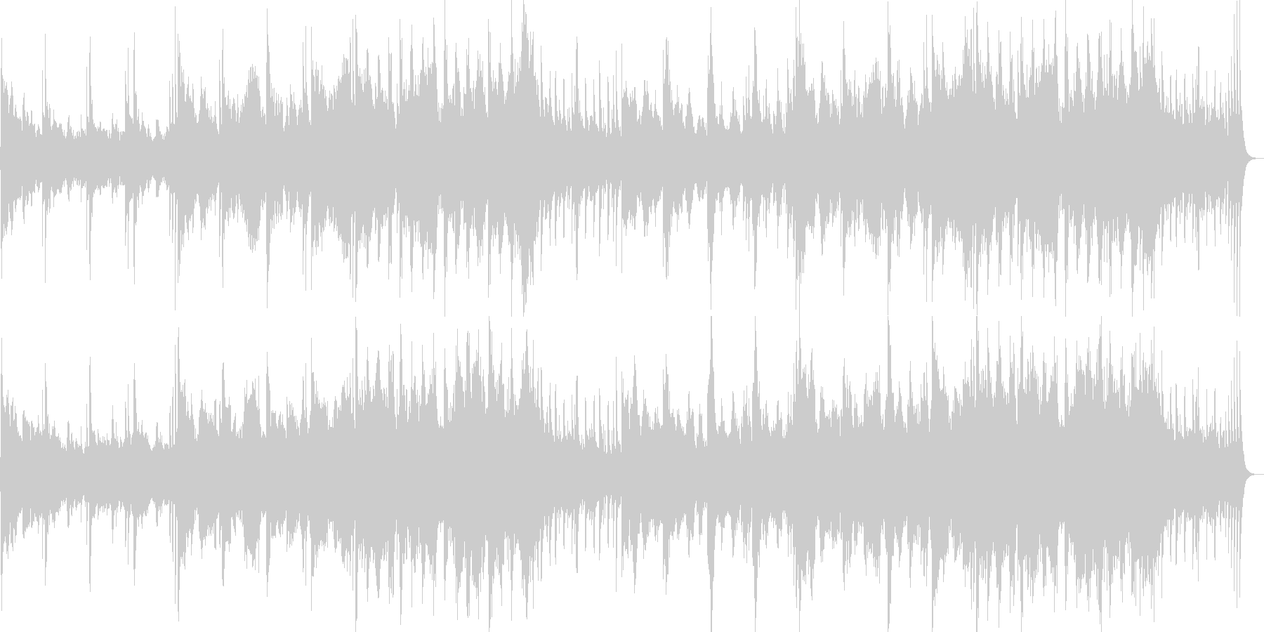 和風で神秘的な琴笛和太鼓のストリングス曲の未再生の波形