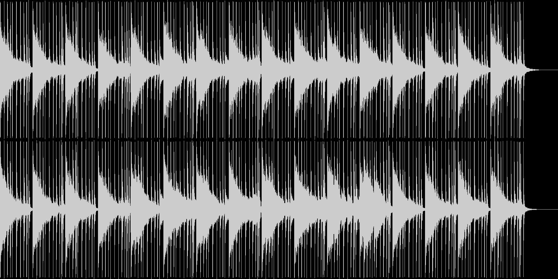 ジャズ風のお洒落なアンビエントの未再生の波形