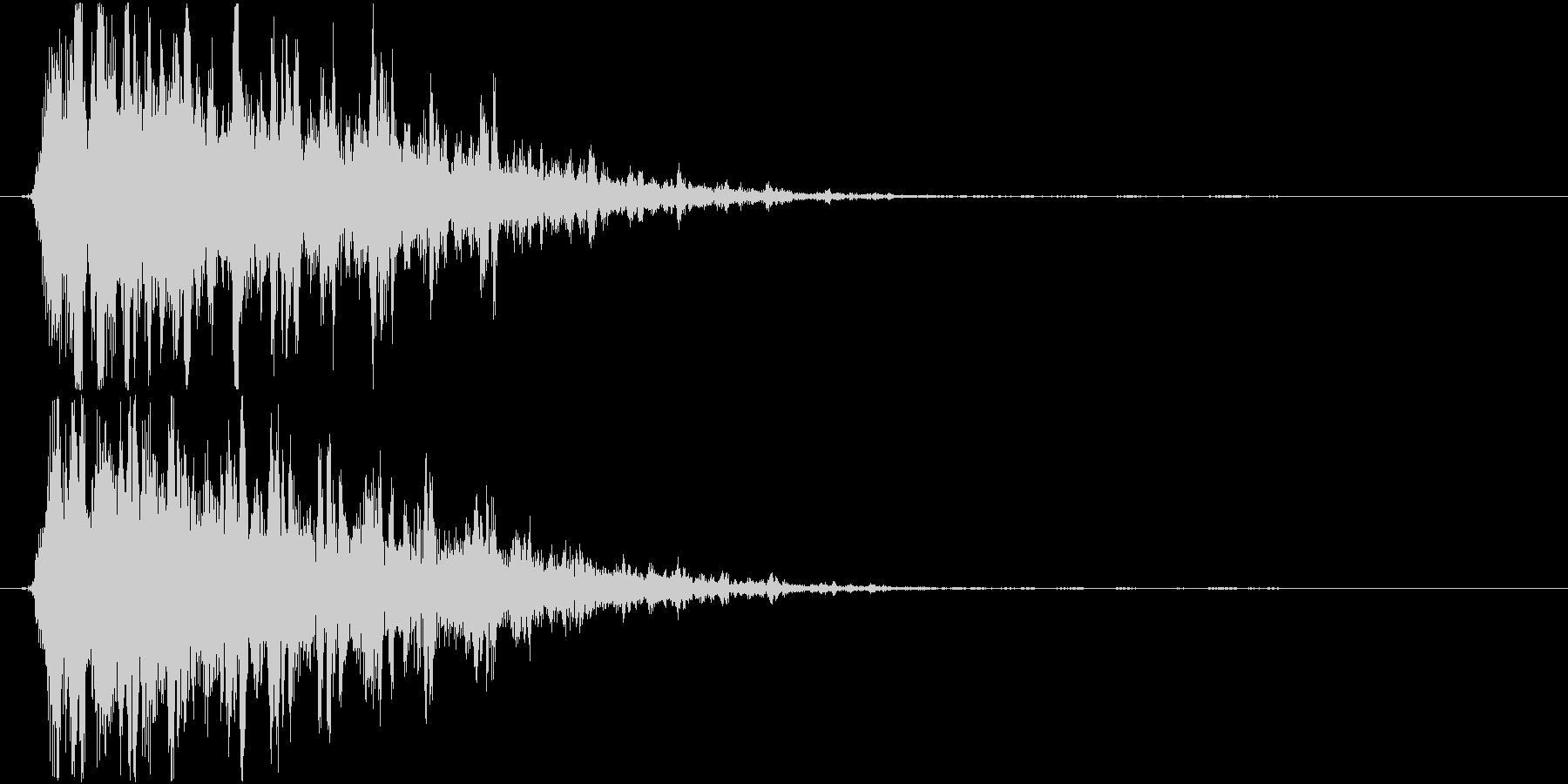 ビーム、光線音(シュルルル)の未再生の波形