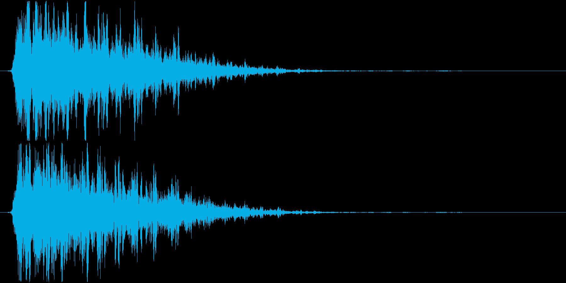 ビーム、光線音(シュルルル)の再生済みの波形