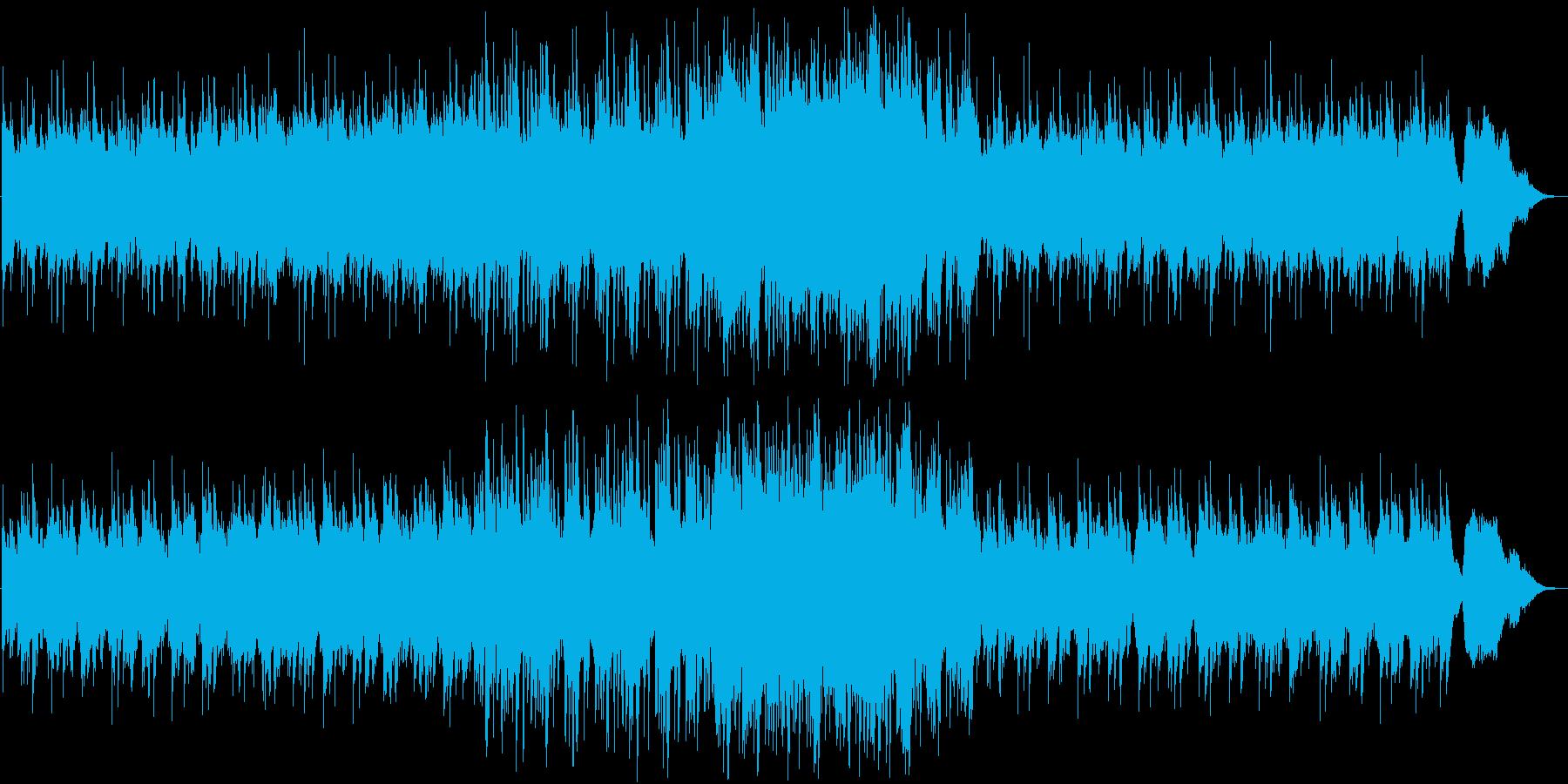 静かな旋律と雄大なリズムのバラードの再生済みの波形