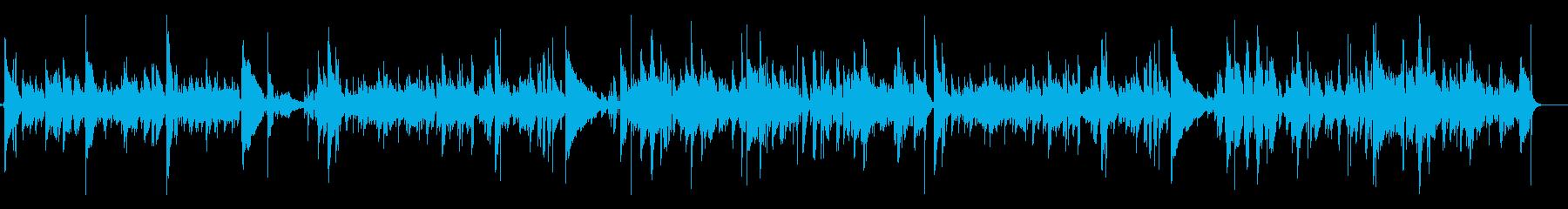 爽やかなアコギインストの再生済みの波形