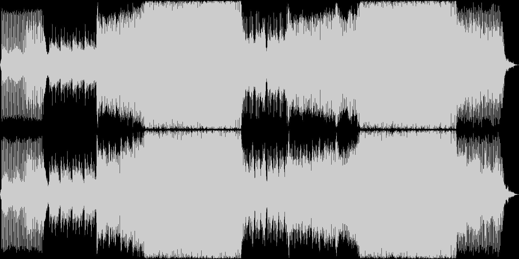 感動的で前向きな気持ちになれるEDMの未再生の波形