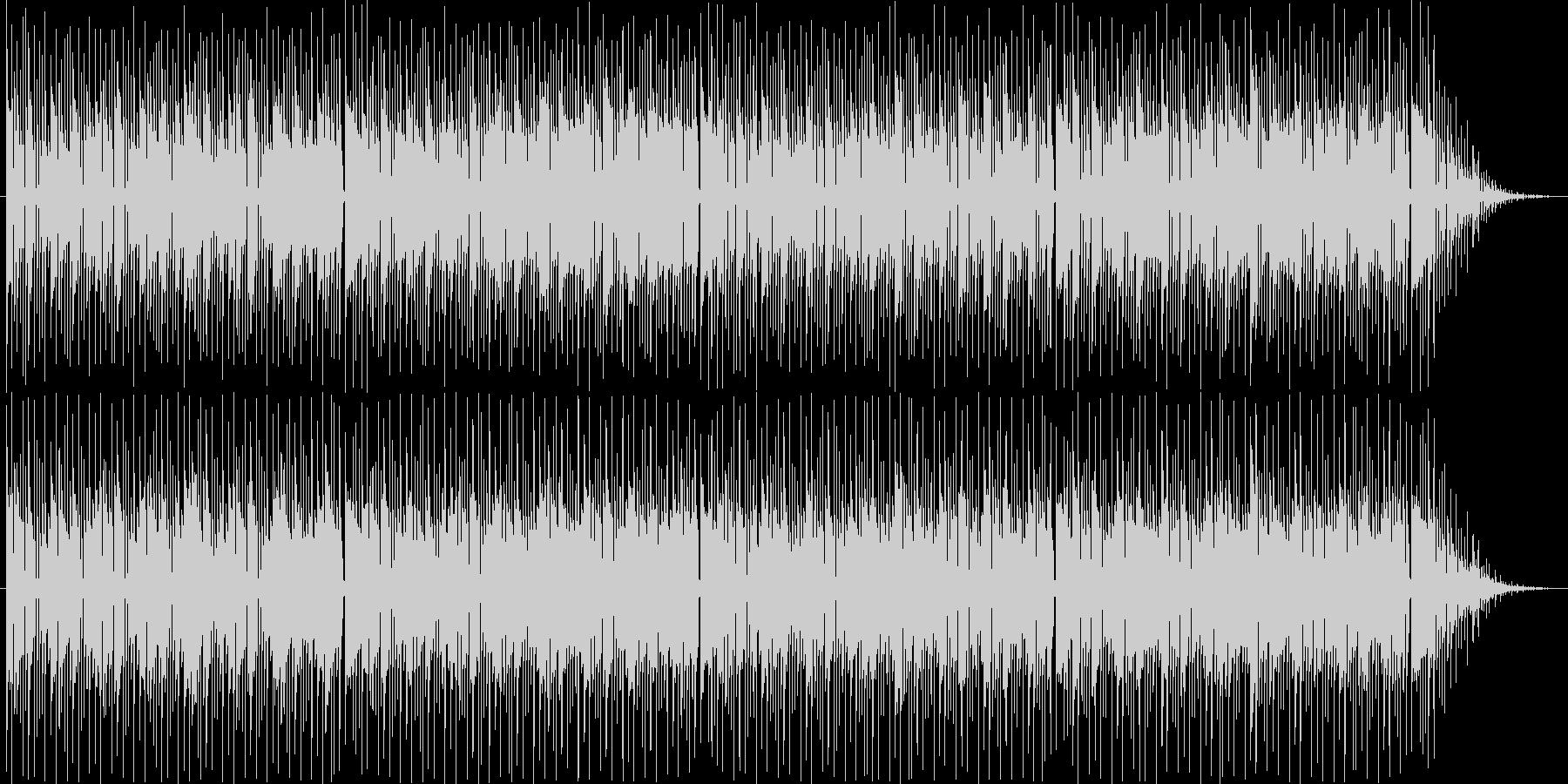 テクノサウンドのボサノバ風ループBGM。の未再生の波形