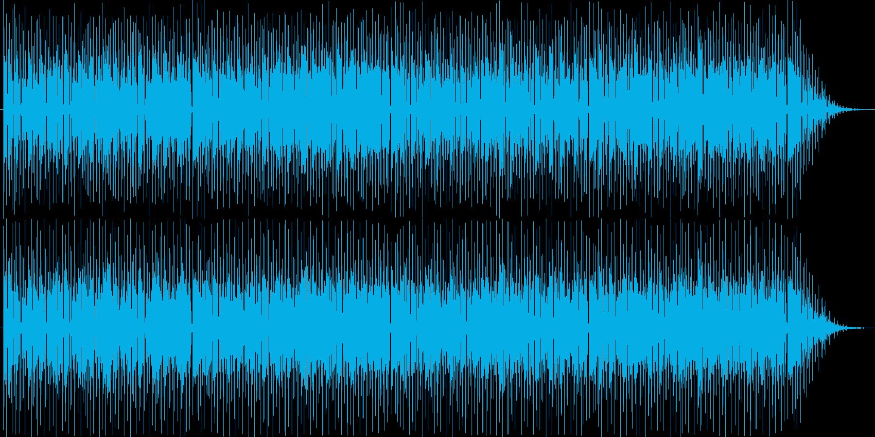 テクノサウンドのボサノバ風ループBGM。の再生済みの波形