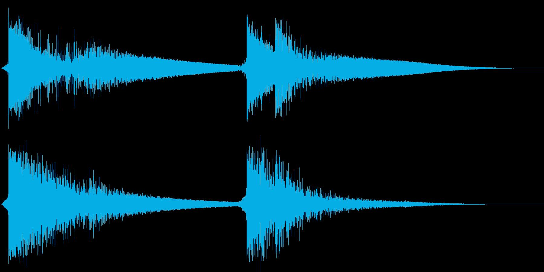 クラッカーを鳴らす(4つ同時)の再生済みの波形
