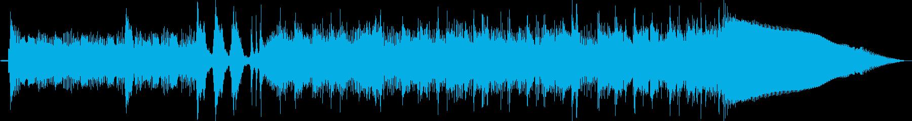 ベースサウンドで変拍子フレーズジングル曲の再生済みの波形