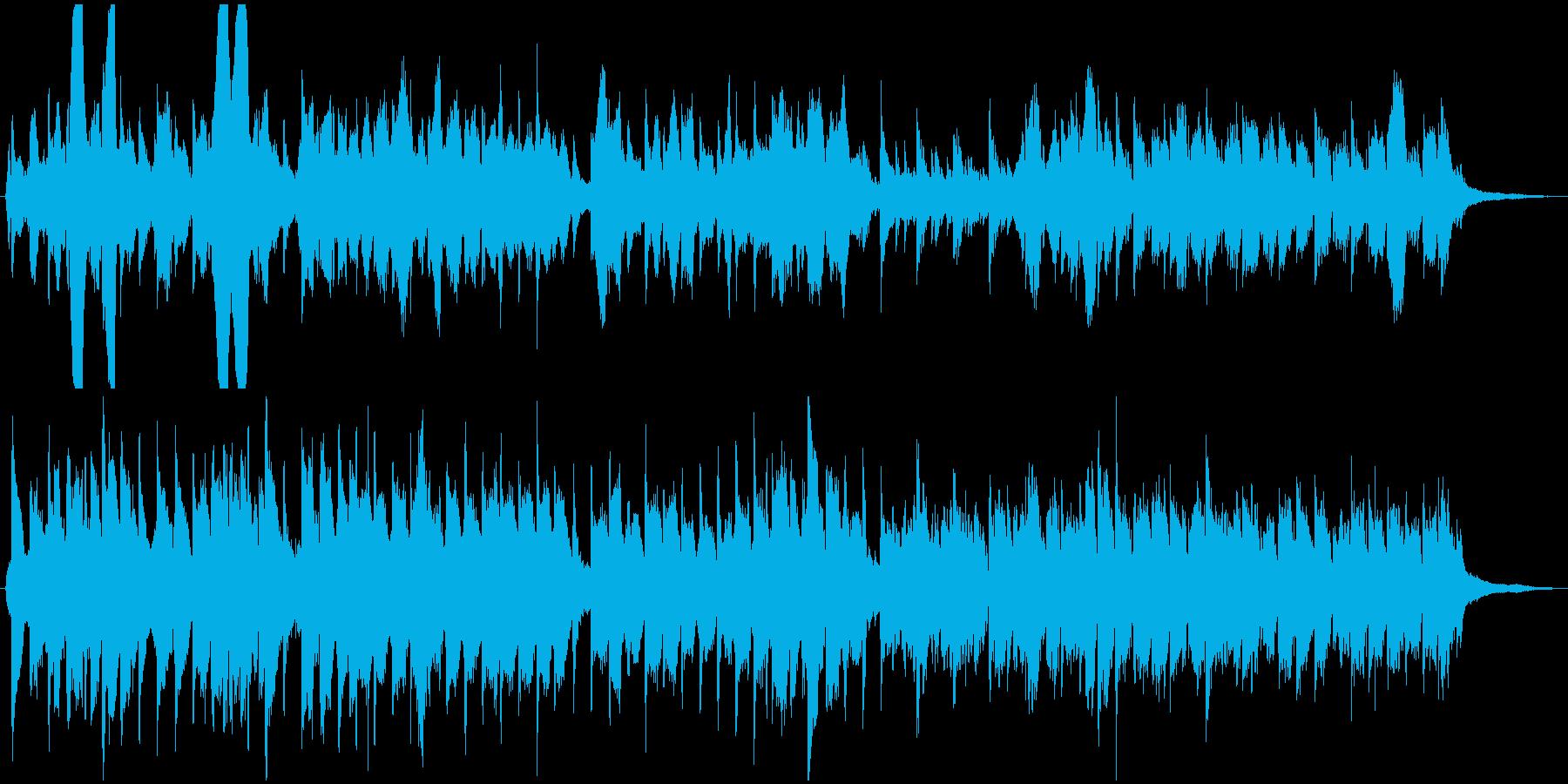 チェロとピアノによる柔らかな和風曲の再生済みの波形