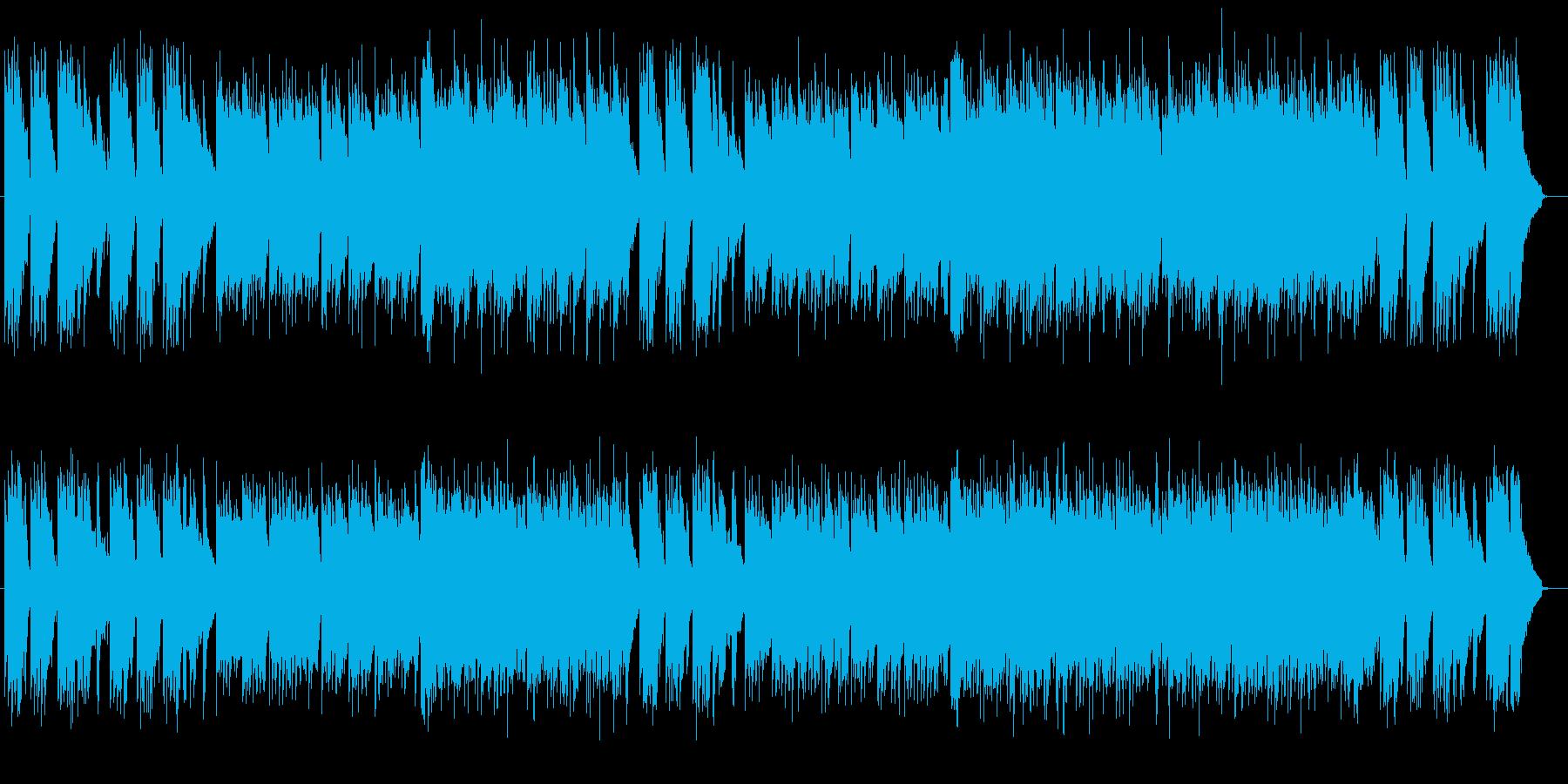 力を抜いて聞けるリラックスミュージックの再生済みの波形