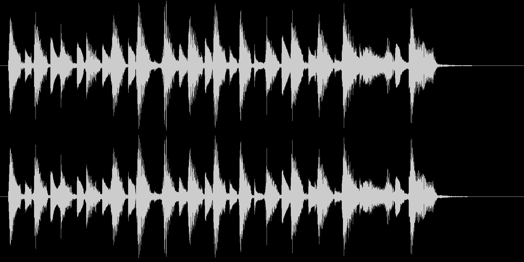 ウクレレ2本(短いフレーズ系)の未再生の波形