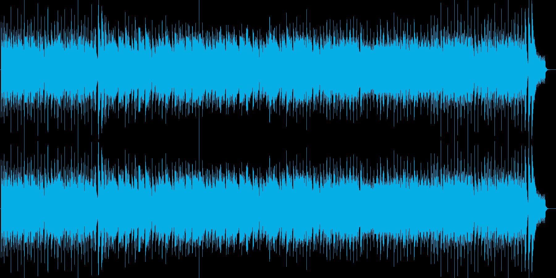 ほのぼのまったりした曲の再生済みの波形