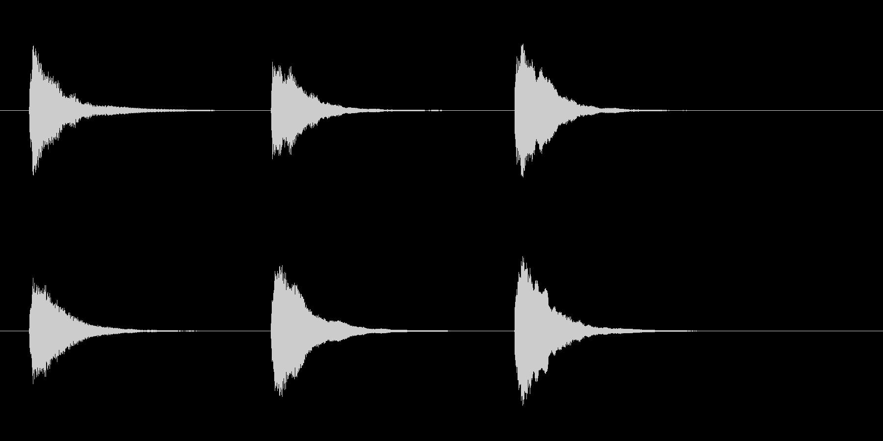 「テスト♪」「名古屋」「テクノ」の未再生の波形