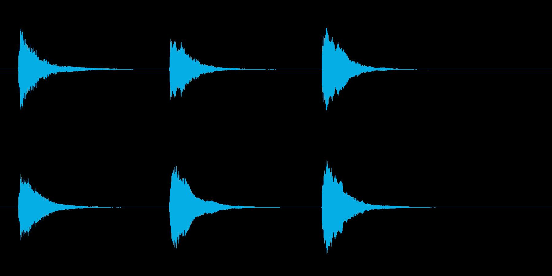 「テスト♪」「名古屋」「テクノ」の再生済みの波形