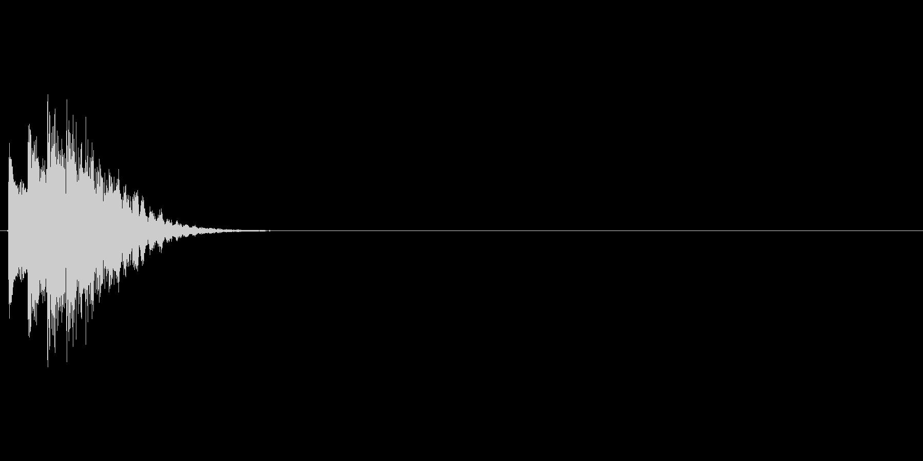 キラキラ↓(キャンセル、戻る)の未再生の波形