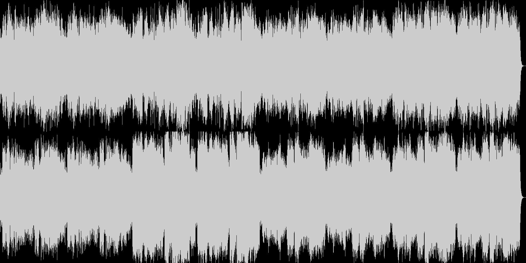 癒し系のフルートメロディの未再生の波形