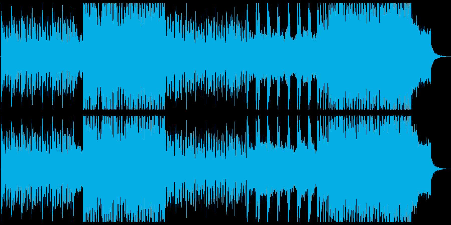 シンセとアコギ 早めのテンポ報道風の再生済みの波形