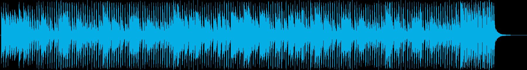 愉快で明るく楽しく弾むメロディーの再生済みの波形