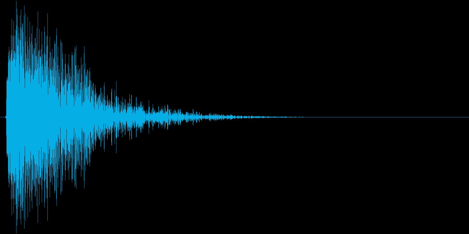 敵を倒す、撃破した時の効果音(重め)の再生済みの波形